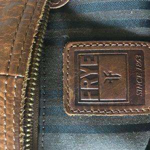 Frye leather across shoulder strap purse.
